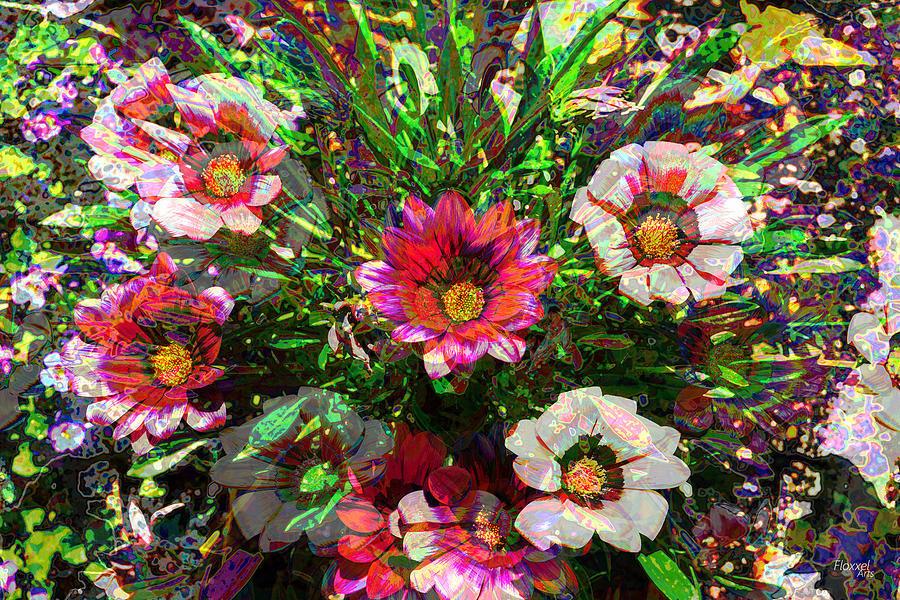Flower Array Digital Art