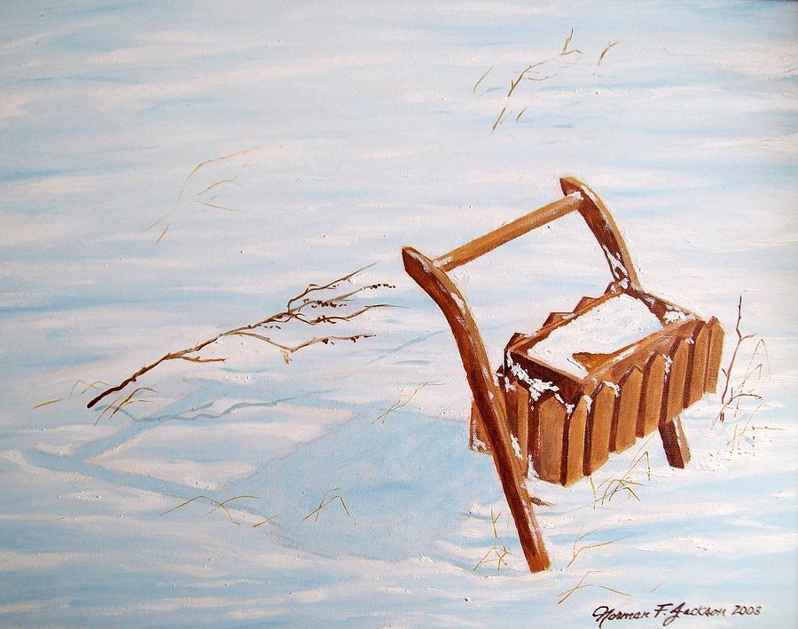 Snow Painting - Flower Box by Norman F Jackson