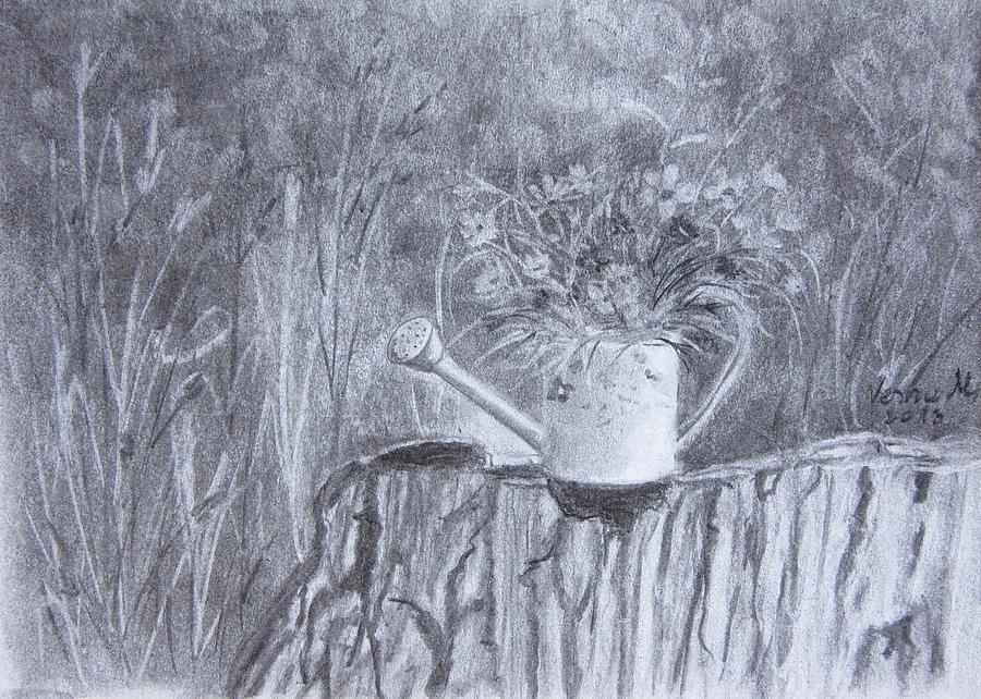 Flower Bucket Drawing