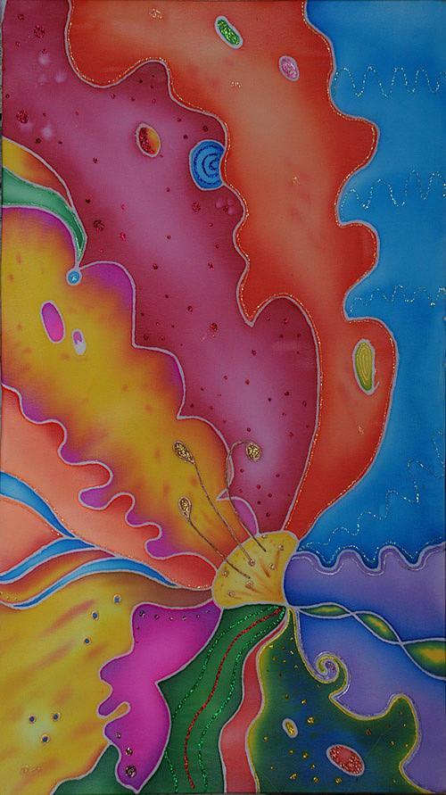Flower Painting - Flower-butterfly   by Tatiana  Antsiferova