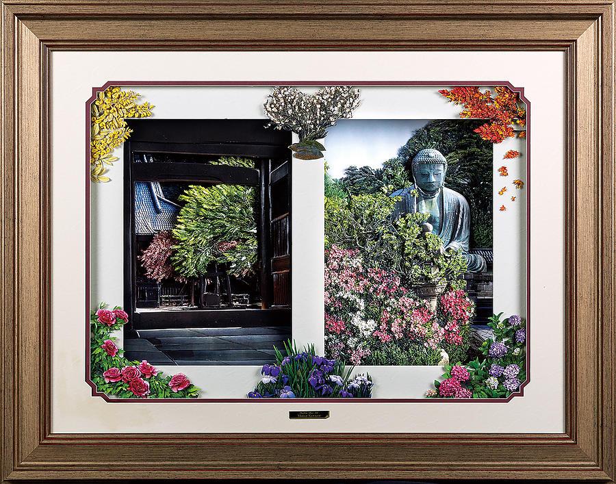 Japanese Mixed Media - Flower Calendar by Momoe Kawazoe