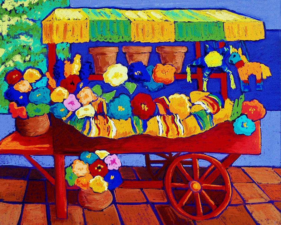 Flower Cart Pastel - Flower Cart by Candy Mayer