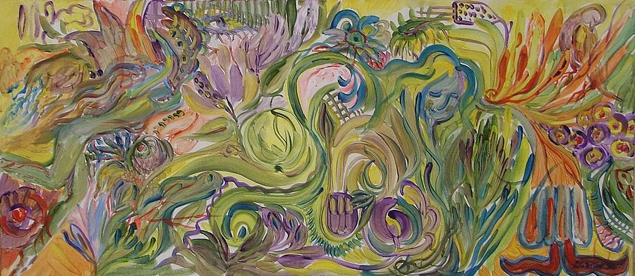Abstract Painting - Flower Composition by Rita Fetisov