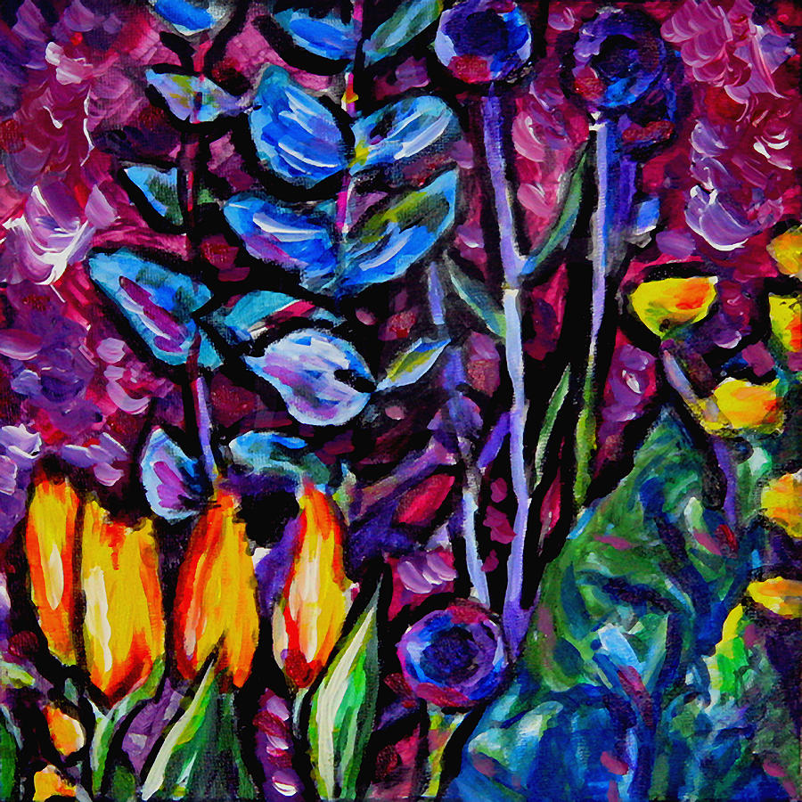Floral Painting - Flower Culture 219 by Laura Heggestad