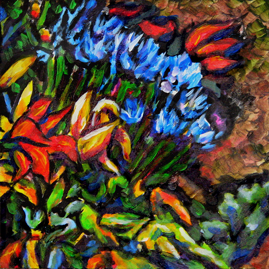 Floral Painting - Flower Culture 222 by Laura Heggestad