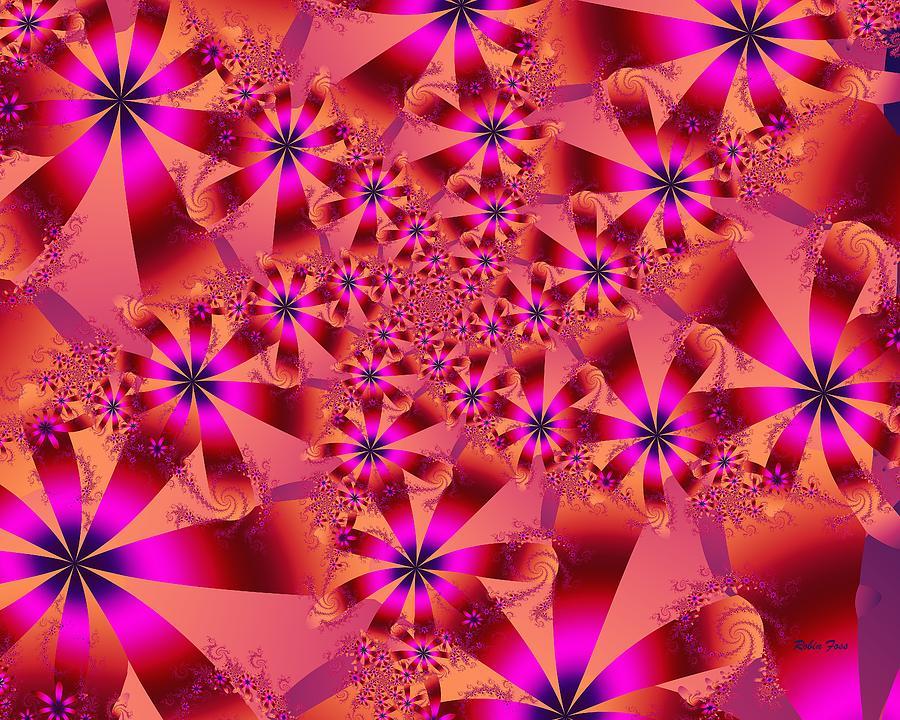 Fractal Digital Art - Flower Dance by Robin Foss