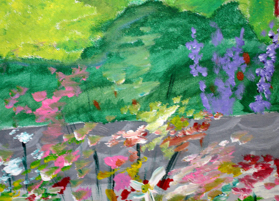 Flowers Painting - Flower Detail 2 by Jeff Caturano