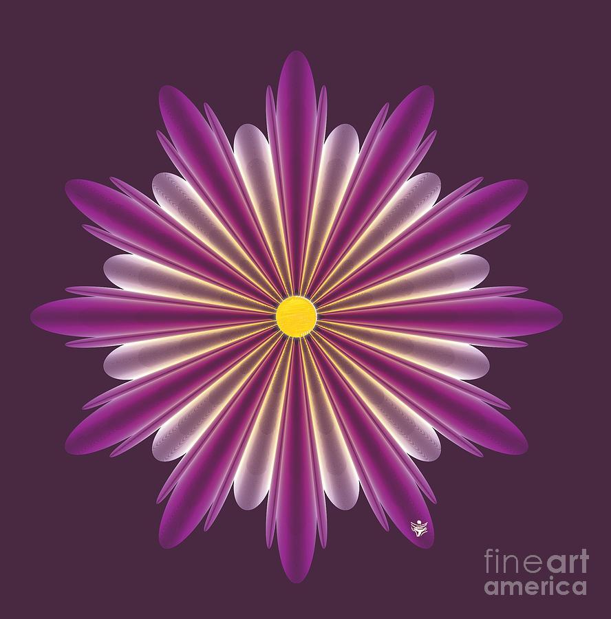 FLOWER DUO - Abstract Art Print - Fantasy - Digital Art - Fine Art Print - Flower Print by Ron Labryzz