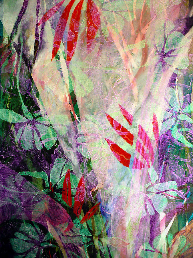 Flowers Painting - Flower Eruption by Sue Reed