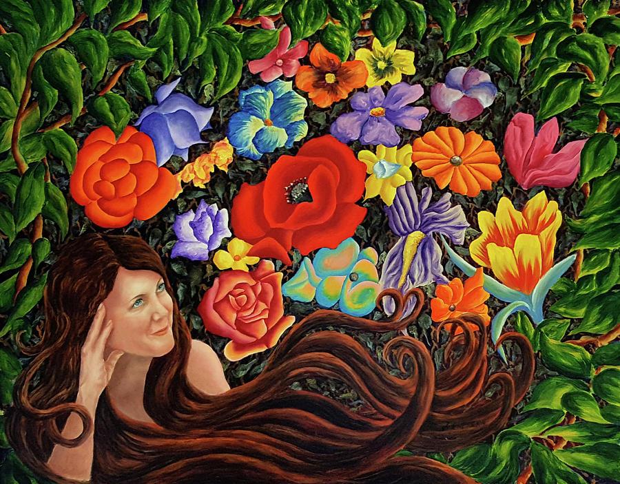 Flowers Painting - Flower Fantasy by John Entrekin
