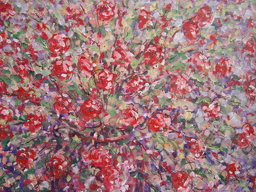 Painting Painting - Flower Feelings. by Leonard Holland