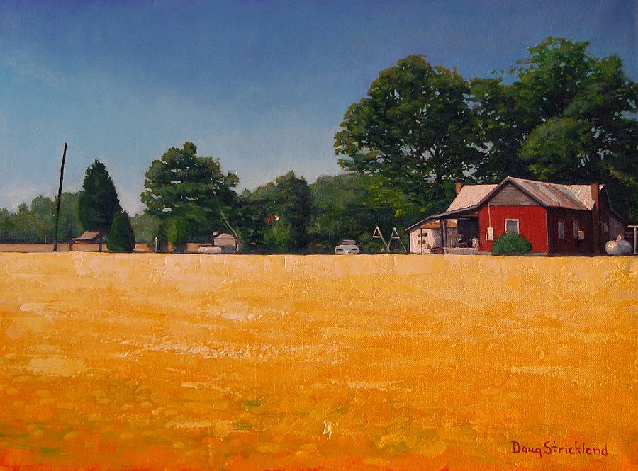 Rural Painting - Flower Field 1 by Doug Strickland