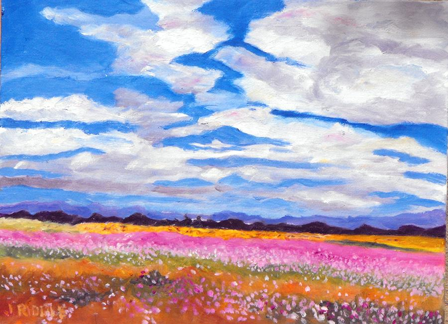 Mexico Painting - Flower Field by Jack Riddle