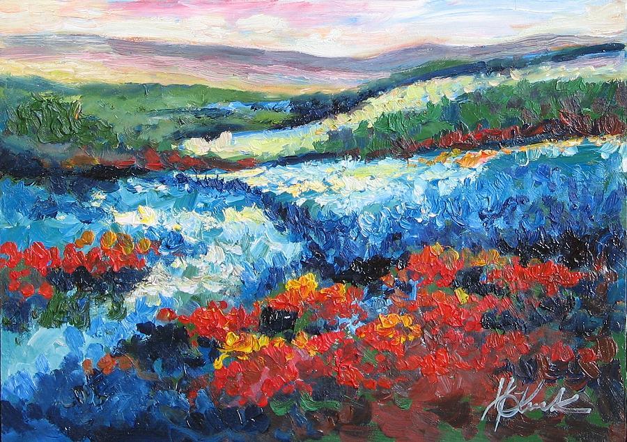 Flower Fields Painting by Kruk