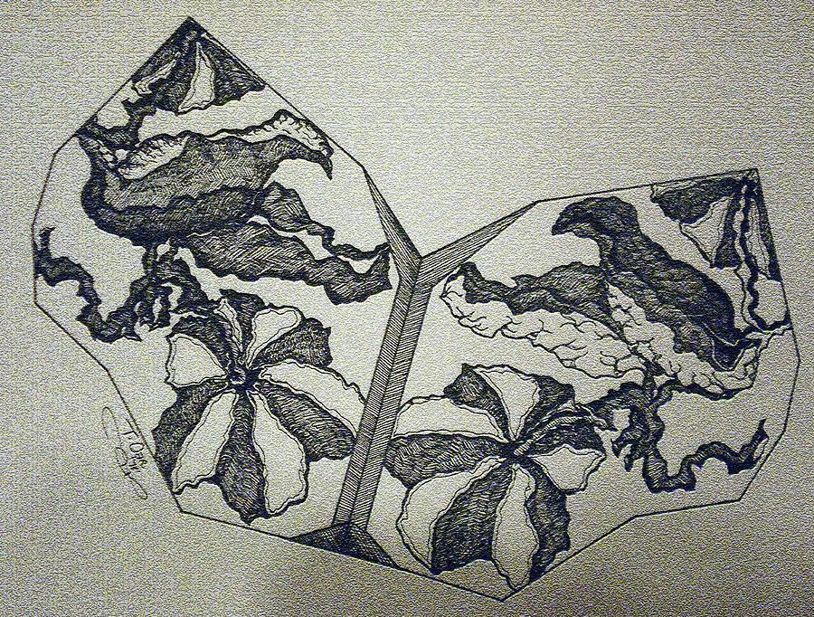 Fossil Digital Art - Flower Fossil by Tammera Malicki-Wong