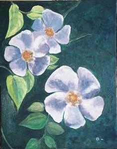Flower Painting by Frank Sharp