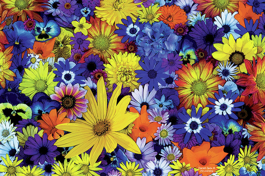 Flowers Painting   Flower Garden 1 By JQ Licensing