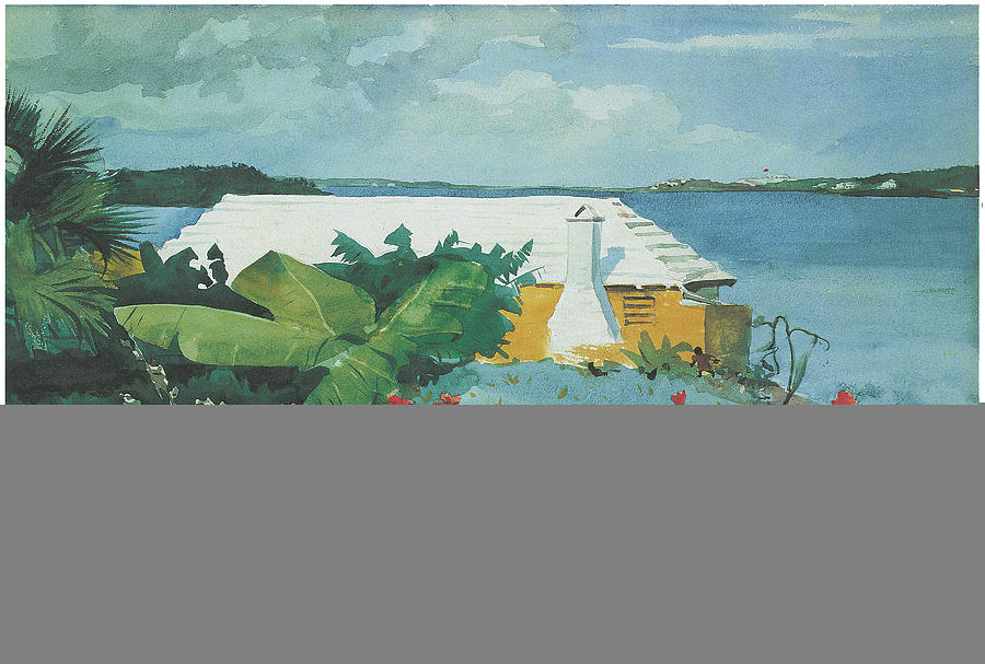 Winslow Homer Painting - Flower Garden And Bungalow Bermuda by Winslow Homer