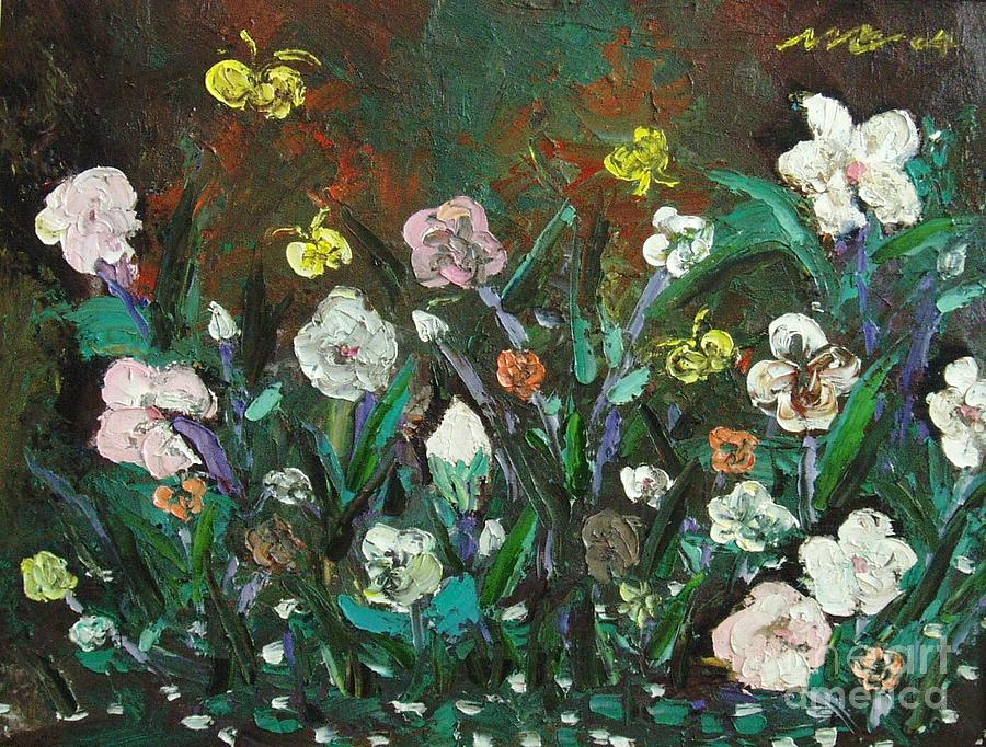 Abstract Paintings Painting - Flower Garden by Seon-Jeong Kim