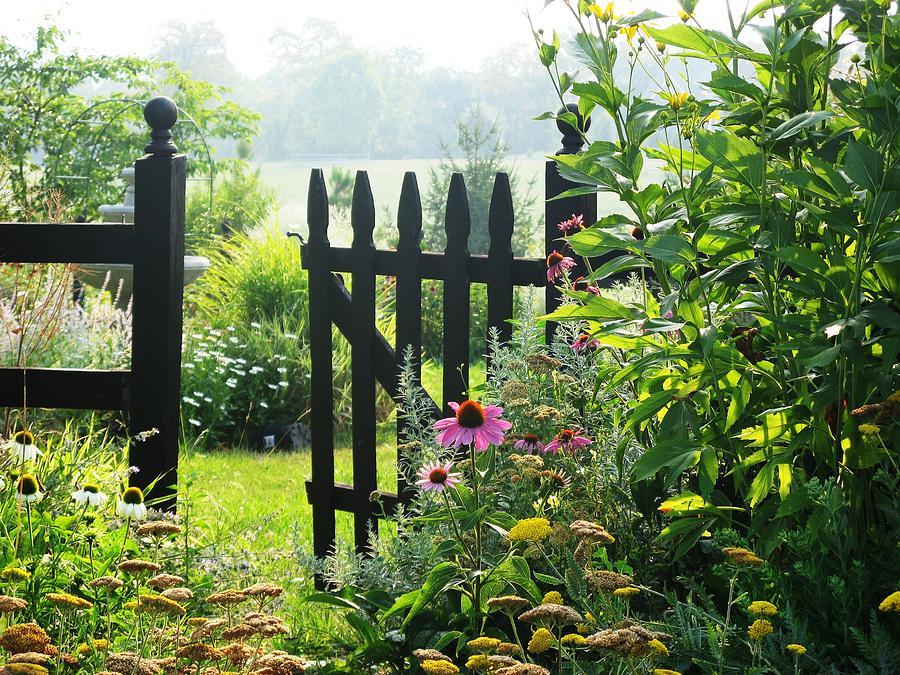 Gates Photograph - Flower Gate by Joyce Kimble Smith