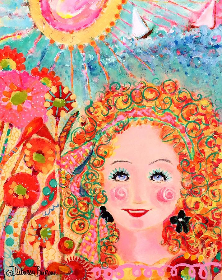 Flowers Painting - Flower Girl by Deborah Burow
