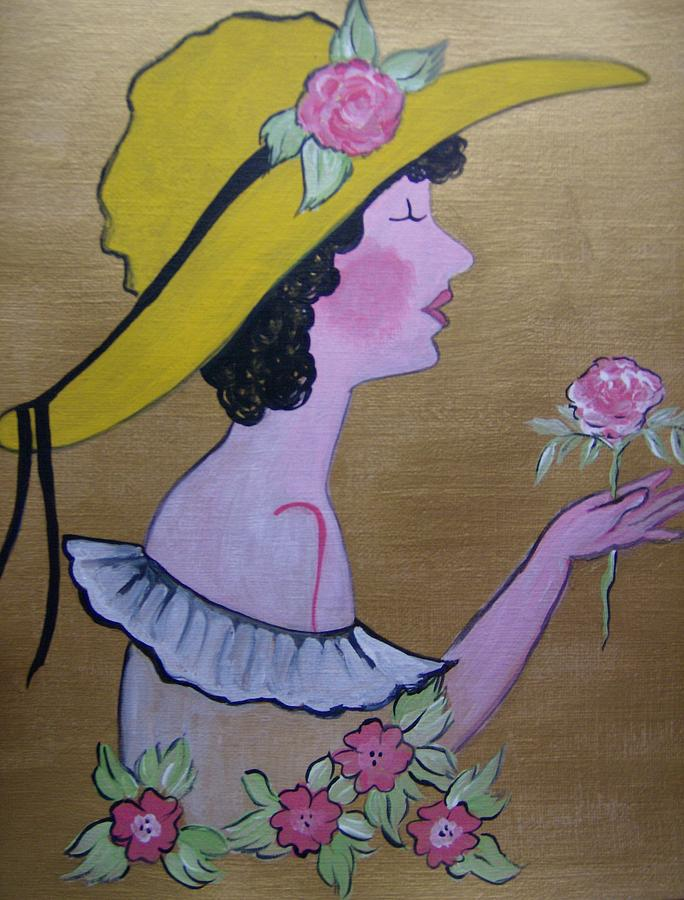 Acrylic Painting - Flower Girl by Leslie Manley