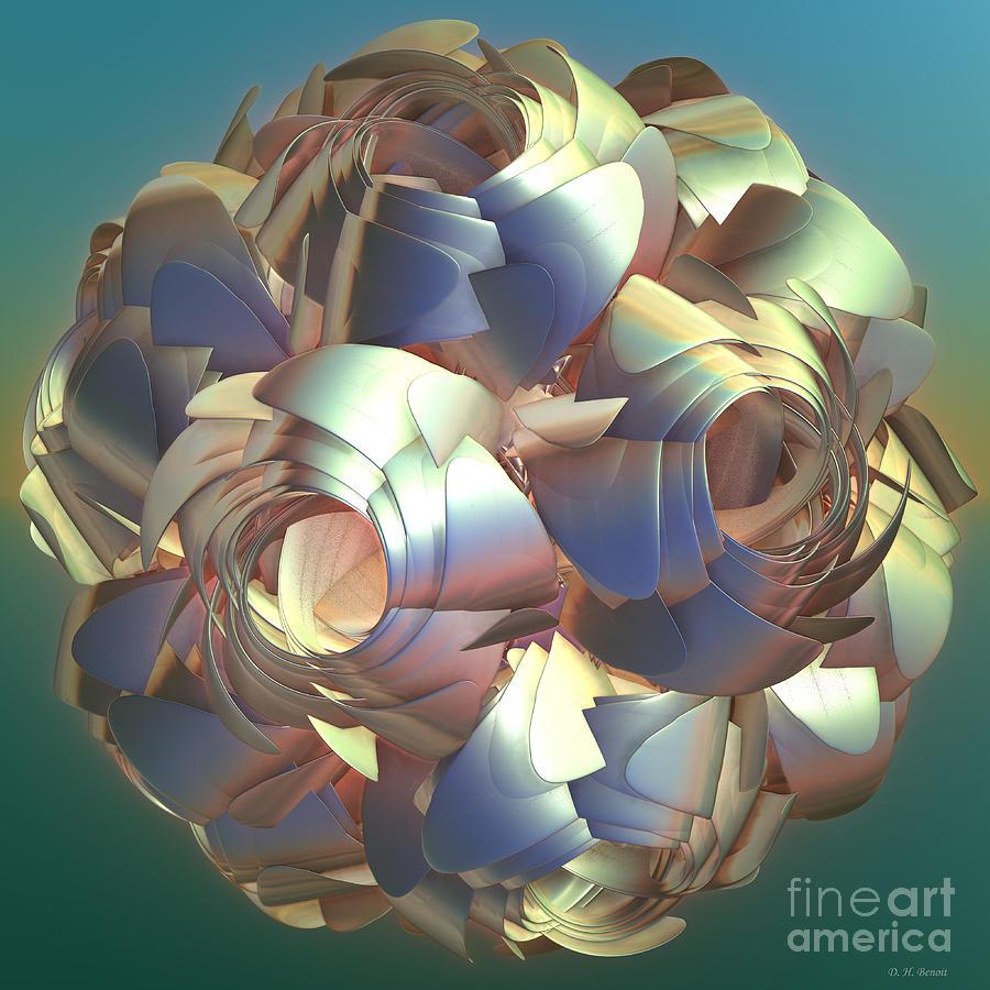 Digital Digital Art - Flower Globe by Deborah Benoit