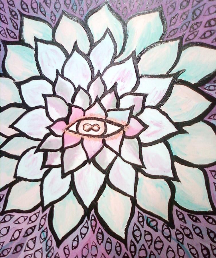 Spirituality Painting - Flower God by Dorine Coello