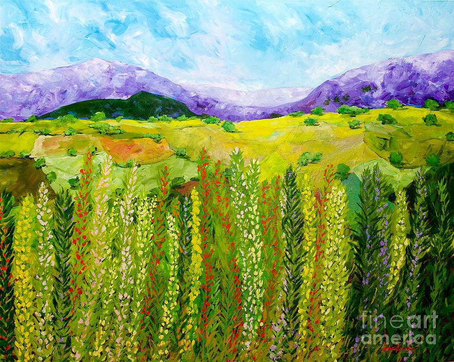 Flower Hedge Painting