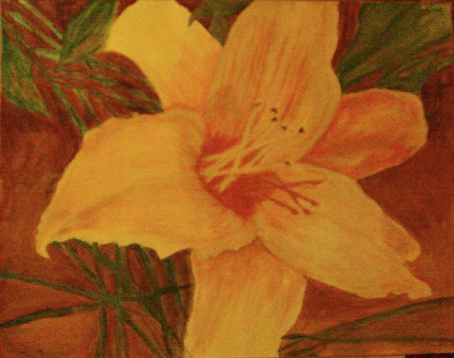 Flower Painting by Helen Vanterpool