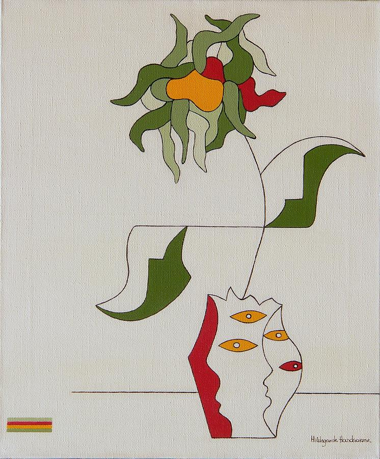 Flower Painting by Hildegarde Handsaeme