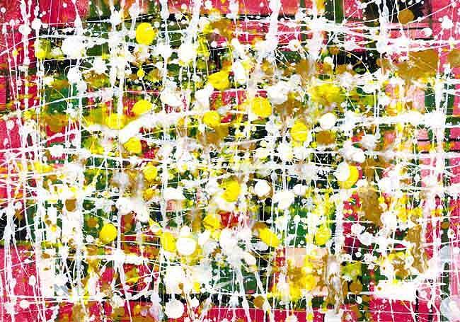 Abstractionism Painting - Flower by Huseyn Bagirov