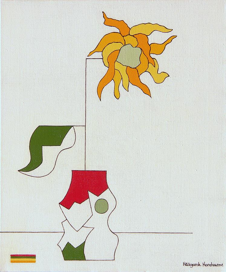 Flower II Painting by Hildegarde Handsaeme