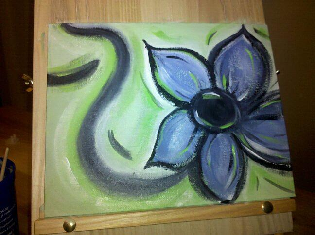 Flower Painting - Flower In The Sky by Amberleigh Shaffield