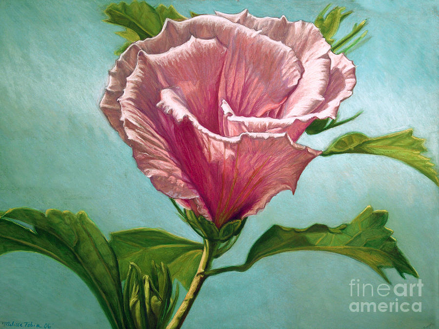Botanical Painting - Flower In The Sky by Melissa Tobia