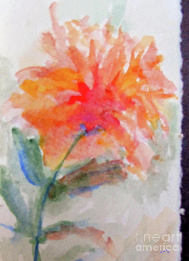 Flower in Watercolor 2 by Sandy McIntire