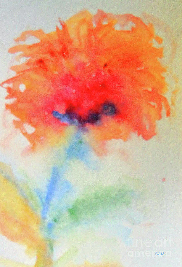 Flower in Watercolor 3 by Sandy McIntire