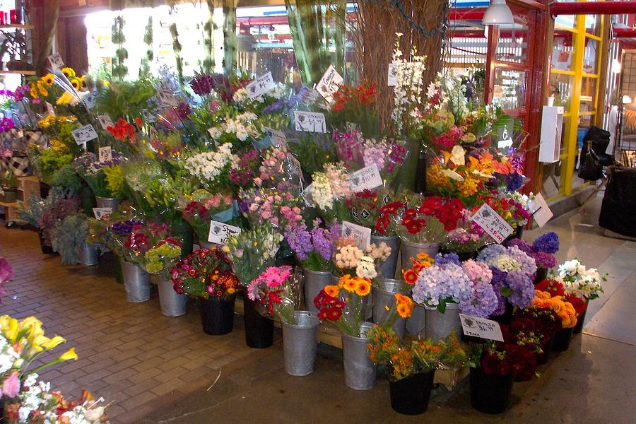 Flowers Photograph - Flower Market by James Johnstone