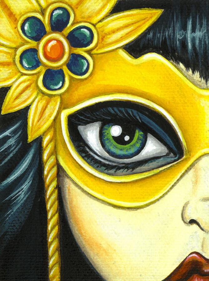 Flower Masquerade is a painting by Elaina Wagner which was uploaded on ...
