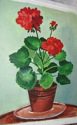 Flower Painting by Naveen Gopinath