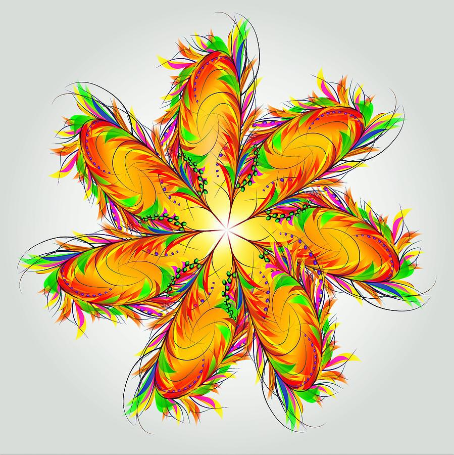 Inspirational Digital Art - Flower Of Joy by The Awakening Art