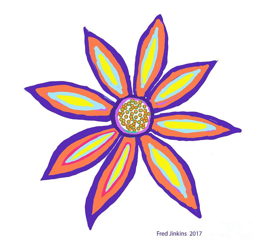 Tropical Flower Digital Art - Flower Of Joy by Fred Jinkins