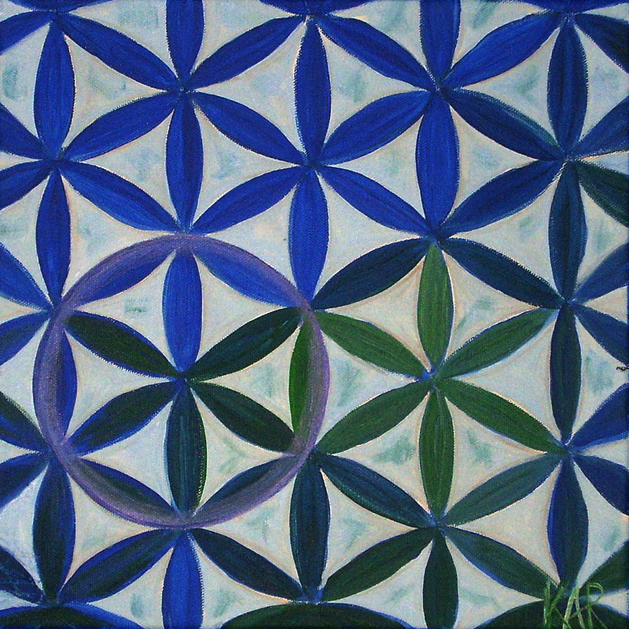 Flower Of Life Painting   Flower Of Life Pattern By Art By Kar