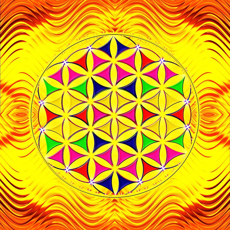 Flower Of Life Digital Art - Flower Of Life by The Awakening Art