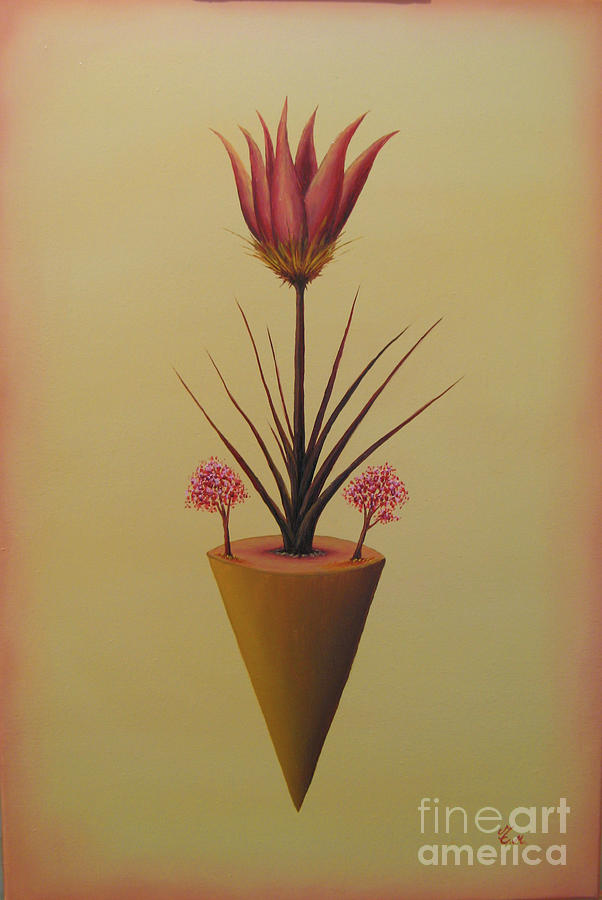 Flowers Painting - Flower Of Renewing by Thomas Maes
