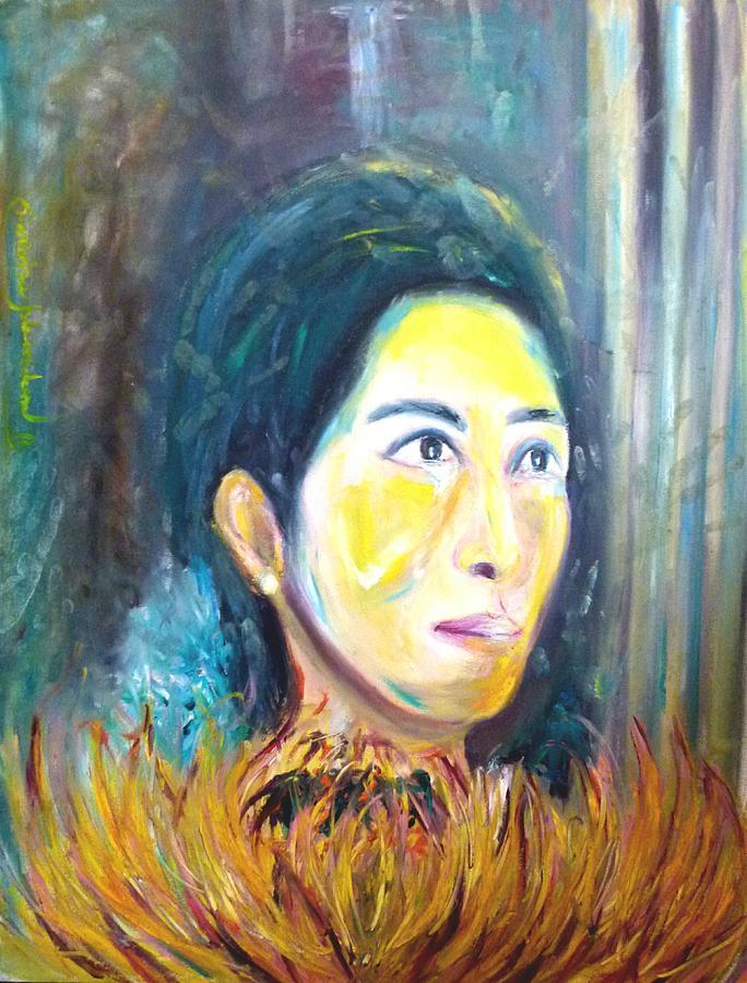 Flower Of Sun Painting by Wanvisa Klawklean