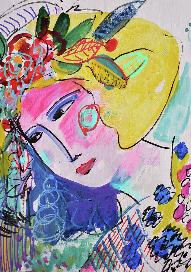 Painting Painting - Flower Party by Amara Dacer