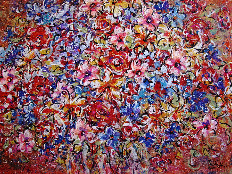 Flowers Painting - Flower Passion by Natalie Holland