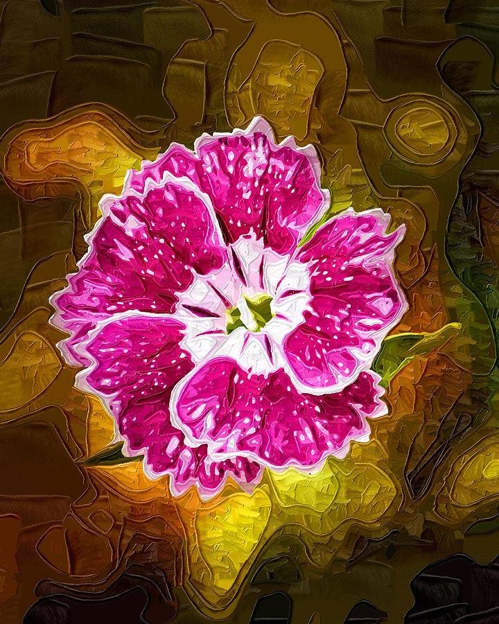 Pink Flower Digital Art - Flower Pop by Paul Bartoszek
