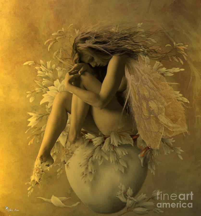 Morning Light Digital Art - Flower Pot Fairy by Ali Oppy